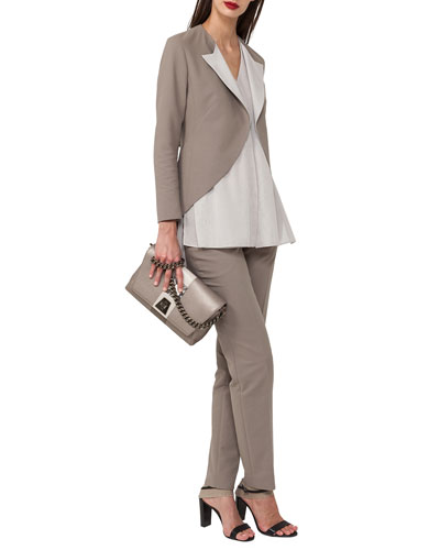 Open-Front Cotton-Silk Tuxedo Jacket and Matching Items