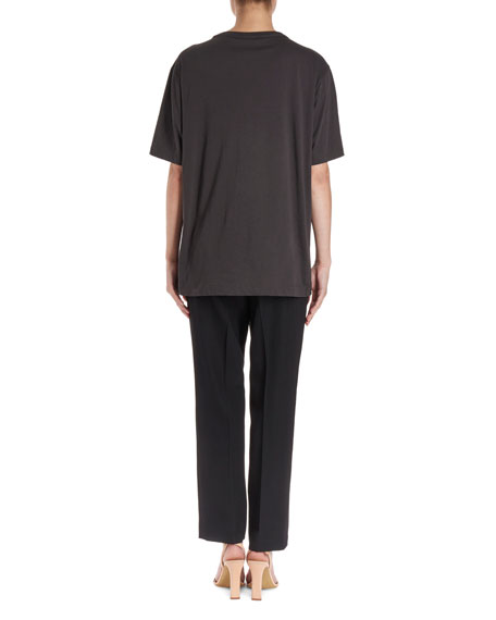 Haydu Short-Sleeve T-Shirt w/ Sequin Leaves
