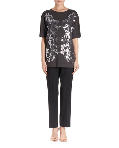 Haydu Short-Sleeve T-Shirt w/ Sequin Leaves  and Matching Items