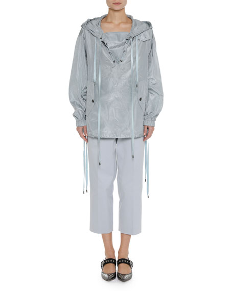 Hooded Oversized Pullover Jacket