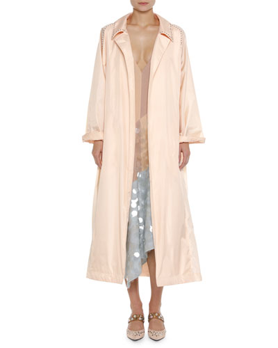 Studded Light Silk Robe Duster Coat and Matching Items