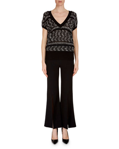 Beal Off-the-Shoulder Fitted Ribbed Top with Handkerchief Peplum and Matching Items