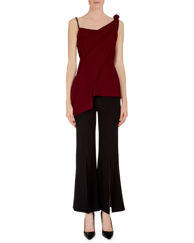 Goxhill One-Shoulder Drape Twist Top and Matching Items