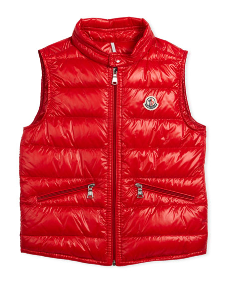 Gui Down Puffer Vest, Red, Size 4-6