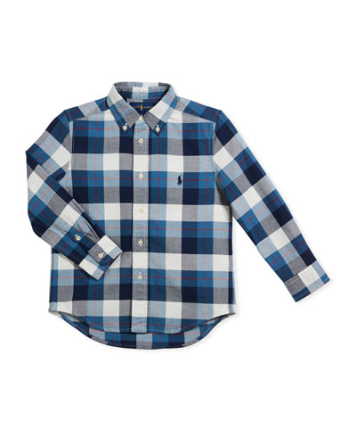 Washed Oxford Button-Down Shirt, Size 2-4  and Matching Items