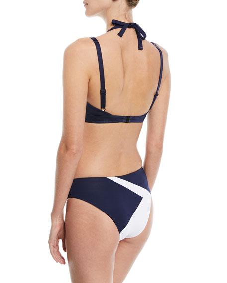 Mila Grommet Strap Back Swim Top