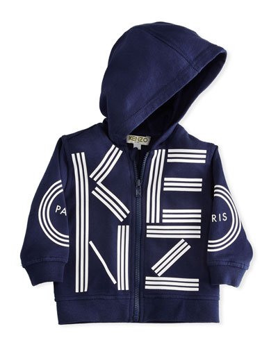 Zip-Up Hoodie w/ Logo, Blue, Size 12-18 Months  and Matching Items