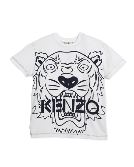 Oversized Tiger Face Graphic T-Shirt, Size 4-6