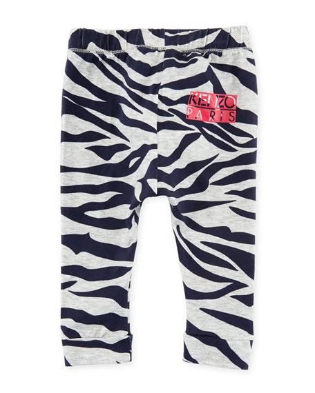 Tiger Stripe Stretch Leggings, Gray, Size 12-18 Months