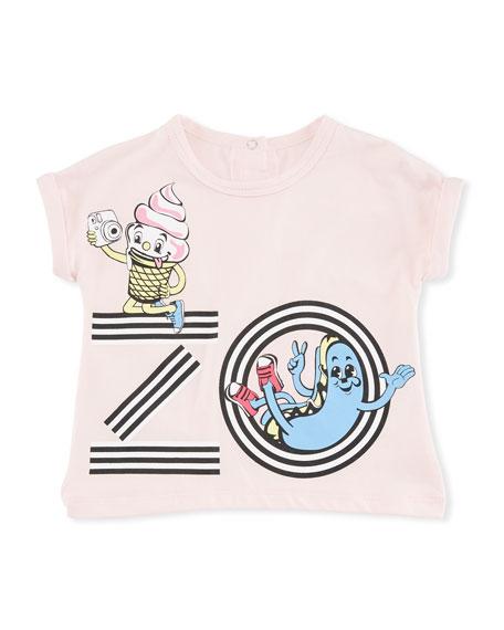 Ice Cream Logo Graphic T-Shirt, Pink, Size 6-18 Months