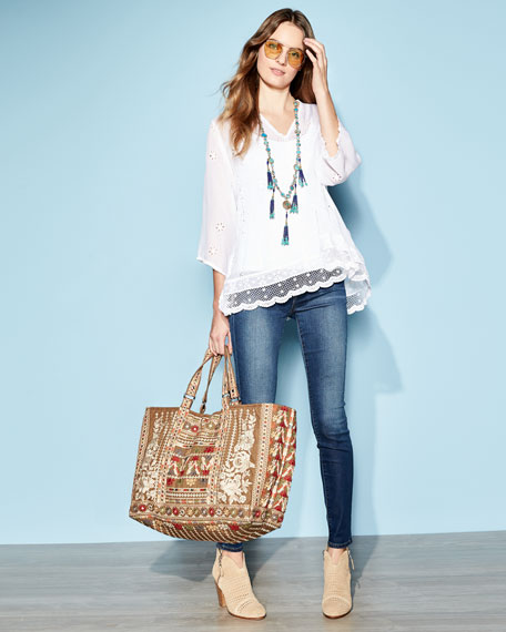 Charming Embroidered Tunic