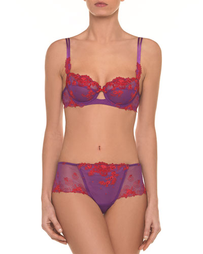 Baisers de Fleurs Lace Demi Bra and Matching Items