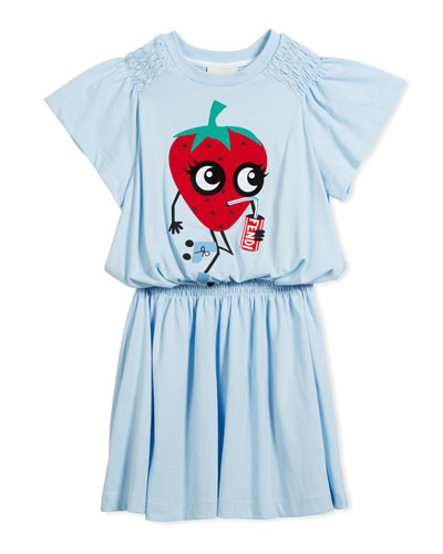 Shirred Strawberry Dress, Size 3-5  and Matching Items