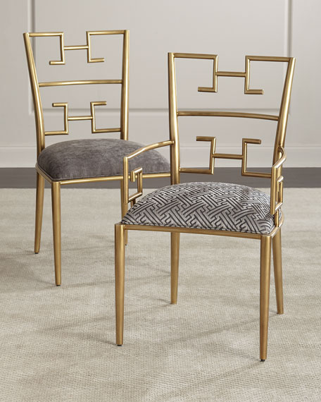 Kalmata Brass Arm Chair