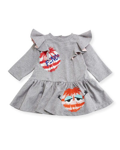 Fur Monster Fit & Flare Dress, Size 12-24 Months and Matching Items