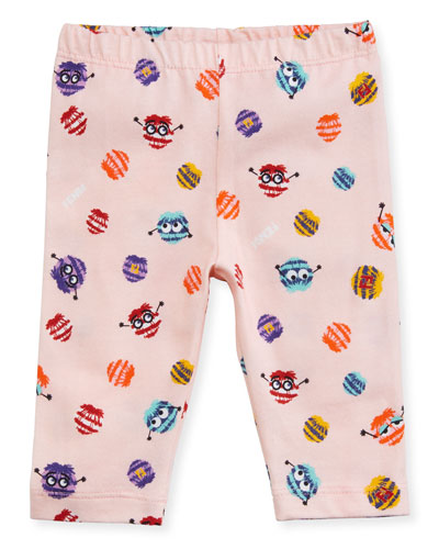 Girls' Monster Pompom Graphic Leggings, Size 3-9 Months and Matching Items