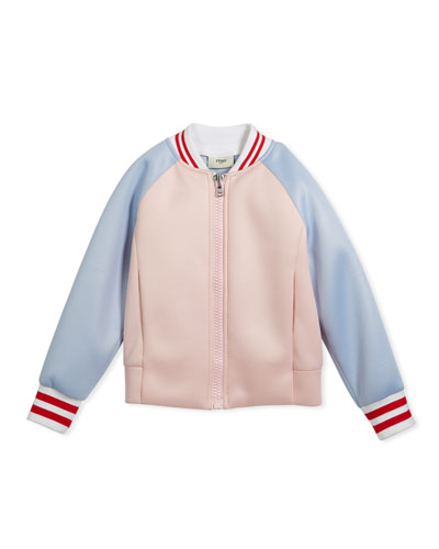 Colorblock Varsity Jacket w/ Logo Back, Size 3-5 and Matching Items