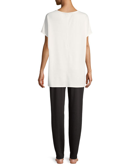 Zen Short-Sleeve Caftan Top