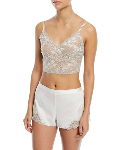 Chantilly Lace Long-Line Bralette and Matching Items