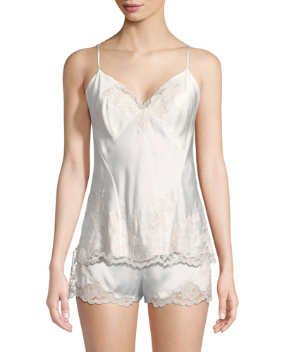 Camilla Lace-Trim Silk Camisole and Matching Items
