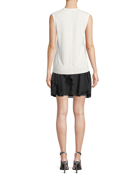 Sleeveless Round-Neck Easy T-Shirt