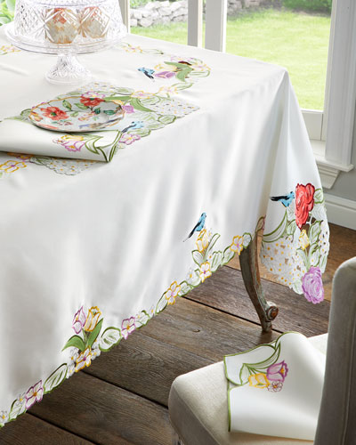 Springtime 4-Piece Napkin Set  22Sq.  and Matching Items