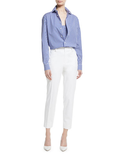 Adrien Gingham Check Cotton Shirt and Matching Items
