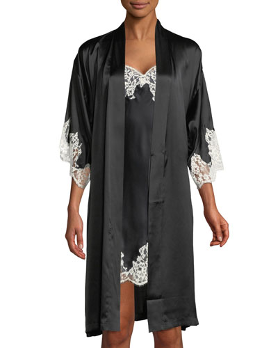 Splendeur Lace-Trim Silk-Blend Robe and Matching Items