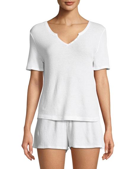 Alydia Short-Sleeve Lounge Top