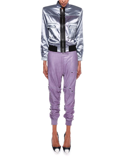 Iridescent Sateen Bomber Jacket and Matching Items