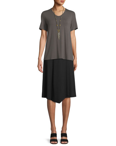 Soft Jersey Easy V-Neck T-Shirt, Petite and Matching Items