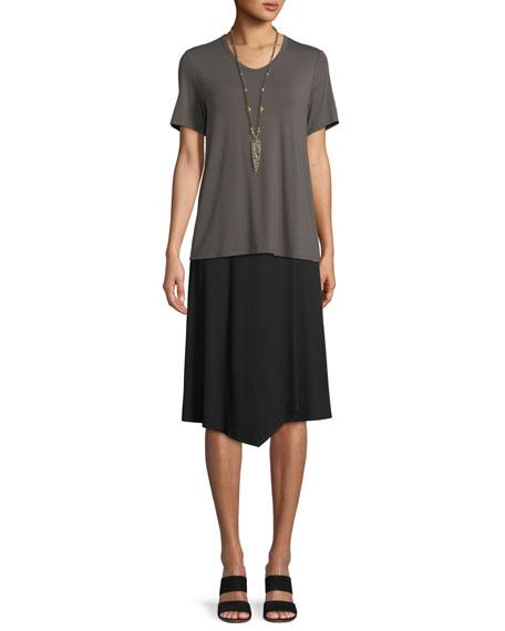 Soft Jersey Easy V-Neck T-Shirt, Petite