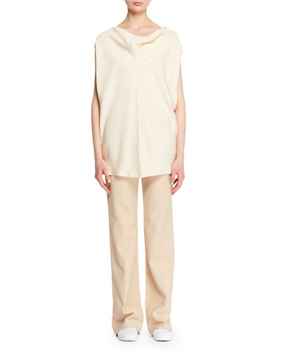 Timo Cowl-Neck Fluid Silk Blouse and Matching Items