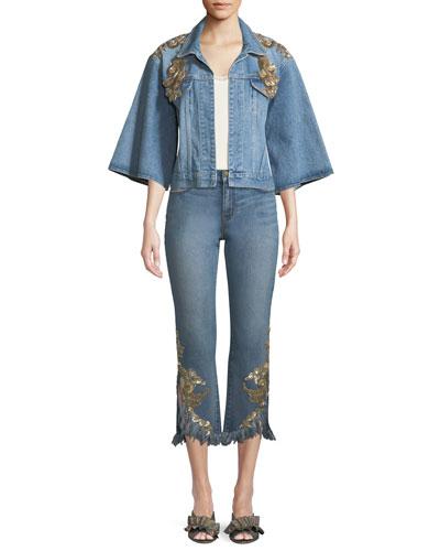 Amada Embellished Denim Jacket and Matching Items