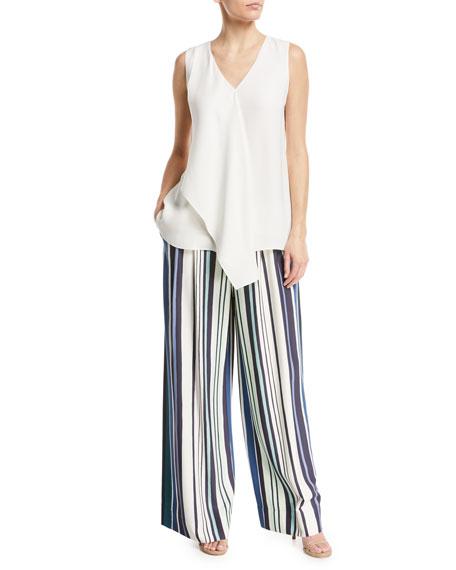 Cooper Drape-Front Silk Blouse