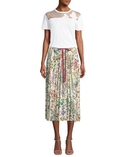 Lace-Yoke Jersey T-Shirt and Matching Items