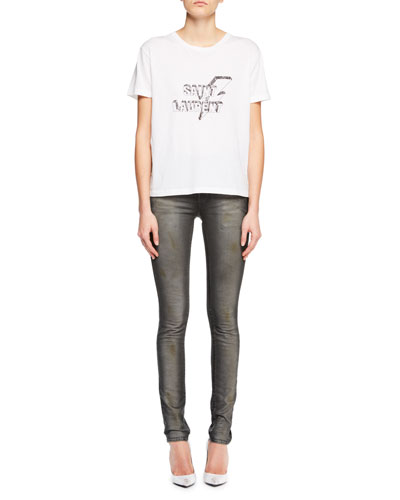 Crewneck Short-Sleeve Cotton Tee w/ Lightning Bolt Logo Graphic and Matching Items