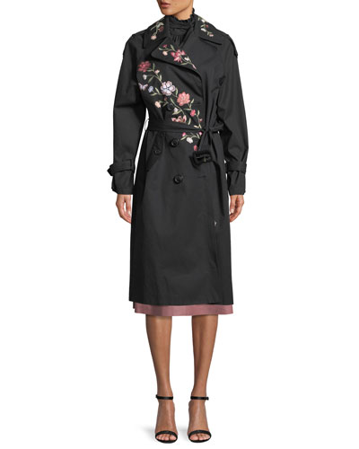 laurelle floral embroidery long coat and Matching Items