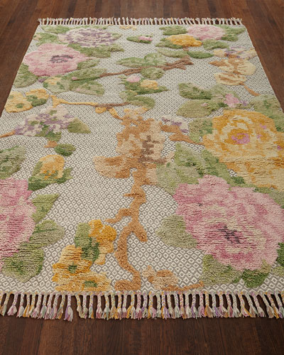 Ivey Hand-Knotted Rug, 8' x 10' and Matching Items