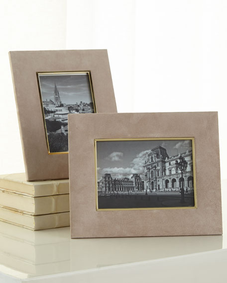 """DUNE Valentina Suede Picture Frame, 5"""" x 7"""""""