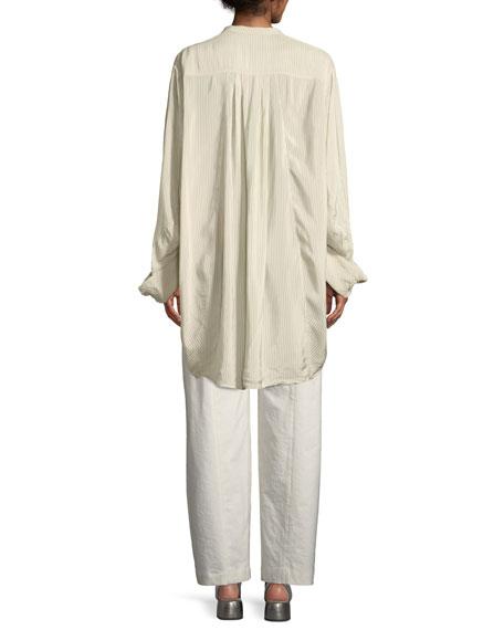 Pinstripe Oversized Cotton Shirt