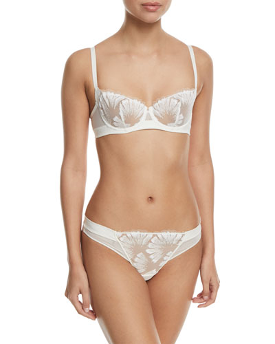 Manille Feathered Demi Bra and Matching Items