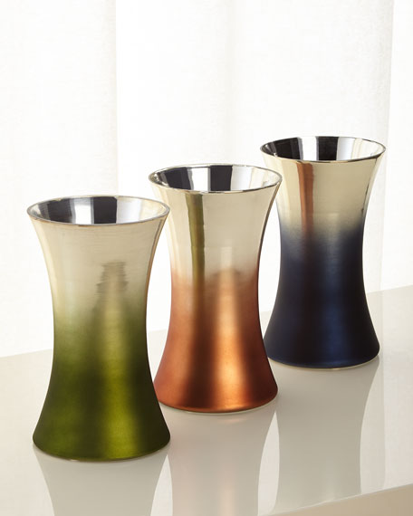 Ombre Tapered Vase, Orange