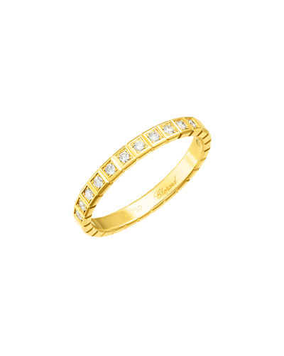 Ice Cube Mini Diamond Ring in 18K Yellow Gold, Size 51