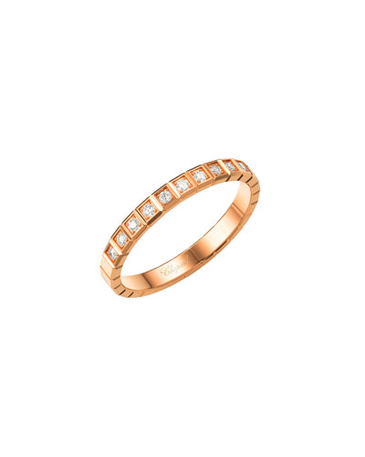 Ice Cube Mini Diamond Ring in 18K Rose Gold, Size 51