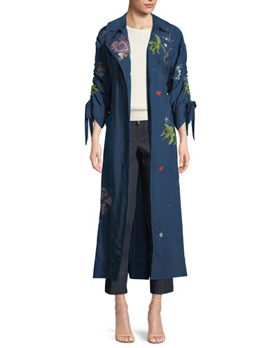 Aziza Floral-Embroidered Jacket and Matching Items