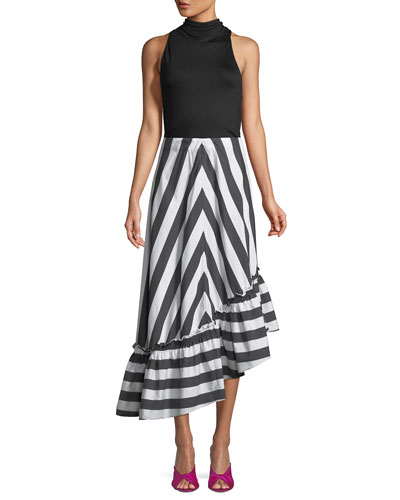 Rosamund Awning Stripe Shirting Skirt and Matching Items