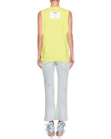 Sleeveless Crewneck Cotton Sweatshirt