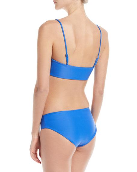Capri Scoop-Neck Solid Swim Top