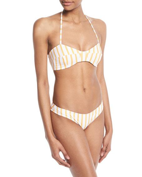 Kali Striped Halter Swim Top